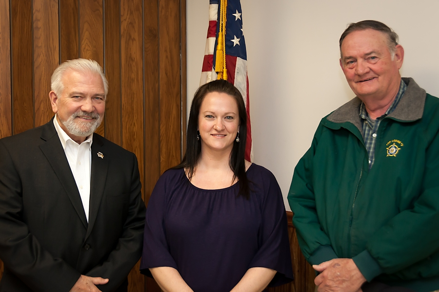 David Skocik, Delaware Veterans Coalition President, Jennifer Vallee, 436th AW Chief of Community Relations, and Paul Davis, Delaware Veterans Coalition Vice-President