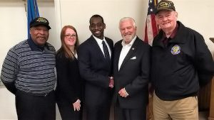 From left, are Jonathan Stewart, Vietnam veteran; Nena Stewart, U.S. Army veteran; Jason Stewart, newly appointed Delaware Veterans Coalition Kent County representative; and Dave Skocik and Paul Davis. Mr. Skocik and Mr. Davis serve as coalition president and vice president, respectively.